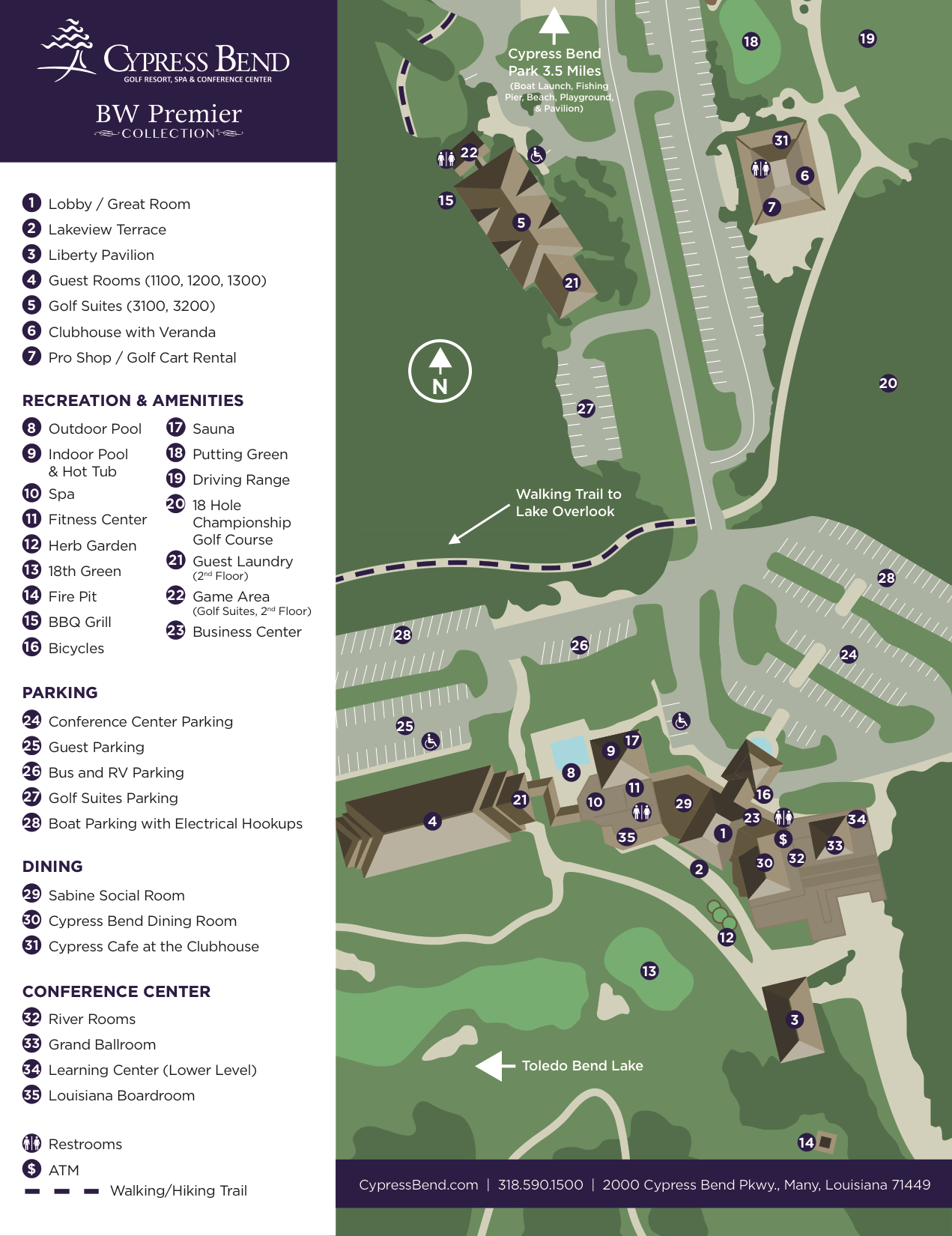 Cypress Bend Resort Map